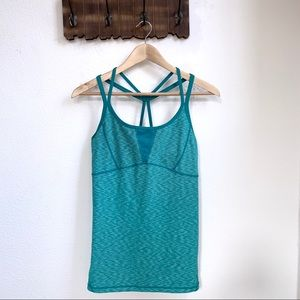 Zella | Strappy Athletic Turquoise Ikat Tank
